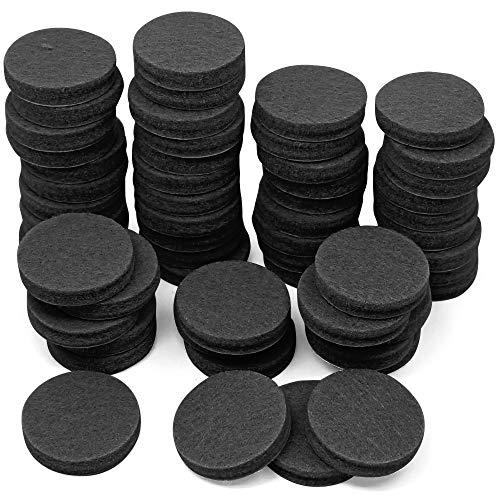 YuCool 60 Stück, Pads, 1 Inch, rutschfest, Stuhl, Boden-Pads für Hartholz mit harten Oberflächen, robuster self-stick, Schwarz