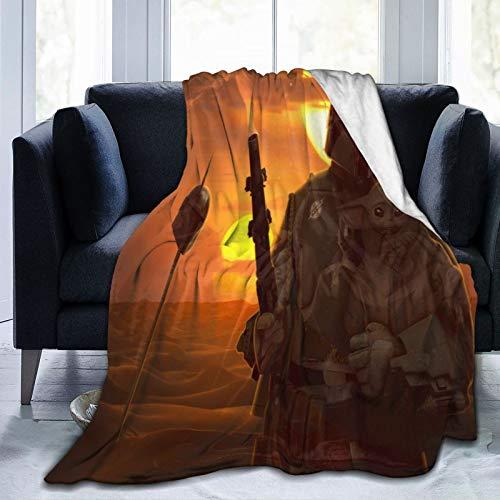 Manta de forro polar suave y cómoda para sofá, cama individual, cálida y gruesa, para todas las estaciones para adultos y niños, 125 x 150 cm