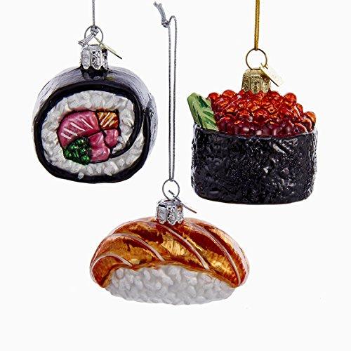 Amazon.com: Kurt Adler 3 Assorted Sushi Rolls Glass Noble Gems Christmas  Ornaments: Home & Kitchen - Amazon.com: Kurt Adler 3 Assorted Sushi Rolls Glass Noble Gems