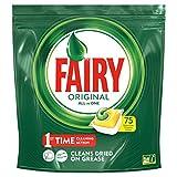 Fairy Original Todo en uno, 75 pastillas para lavavajillas, detergente en paquete de 75