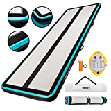 AirTrack Shop Zephyr 4 Inflatable Gymnastics Mat with Air Pump | Compact Home Gym Exercise Equipment...