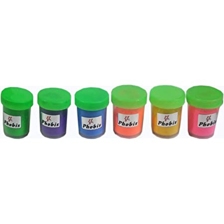 Phobis Fluorescent Powder Wax Colors for Candle Making Set of 6 Colors 10 gm Each
