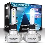 2018 NOVSIGHT Ampoule LED Voiture Une Paire 50w 10000 Lumen H1 H4 H7 Prises Fit pour Camion IP68 Etanche Garantie 2 Ans (H1)