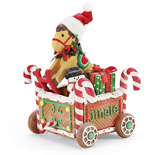 Department 56 Possible Dreams Santa Accessories Christmas Traditions Rockinghorse Train Car Figurine, 7 Inch, Multicolor