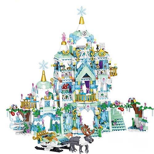 Bloques de construcción Amigos Tema Princesa De Lujo Castillos De Hielo Patio De Recreo Figuras De La Casa Ladrillos Bloques De Construcción Juguetes Para Niñas Diy Regalos Educativos