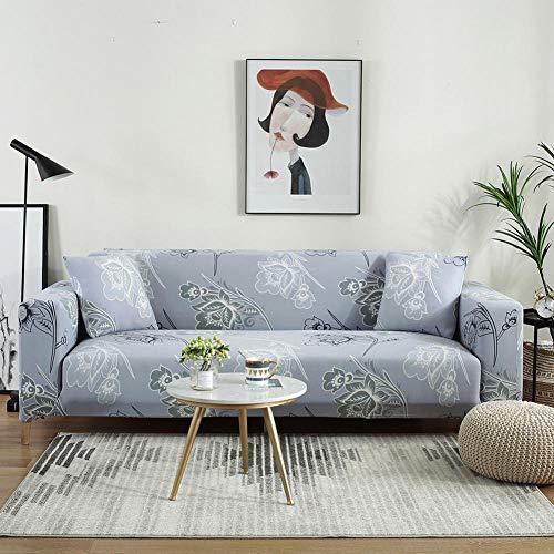 Fundas de Sofá 2 plazas y 4 plazas, Funda de sofá elástica para Sala de Estar, Funda de sofá elástica, Fundas de sofá en Forma de L de una Sola sección, 2 Piezas