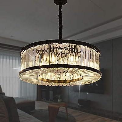 "Meelighting Crystal Chandeliers Modern Contemporary Ceiling Lights Fixtures Pendant Lighting for Dining Room Living Room Chandelier W28"""