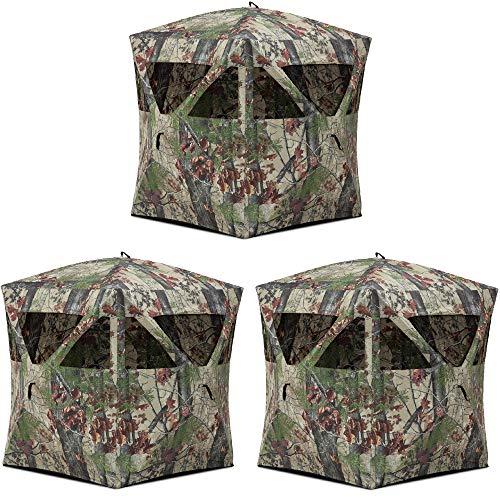 Barronett Blinds Backwoods Camo Lightweight Pop Up Hunting Ground Blind (3 Pack)