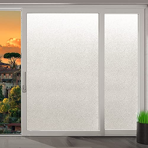 Tinabless Frosted Glass Film Self-Adhesive Privacy Window Film Anti-UV...