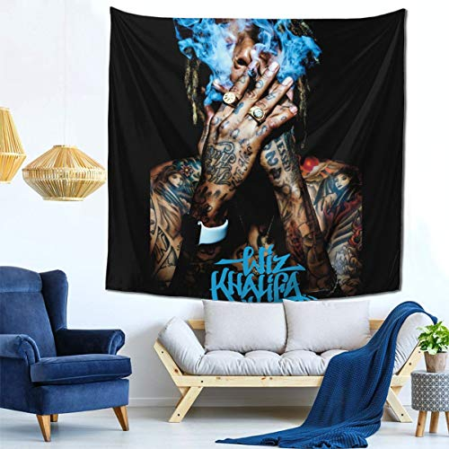 AshleySSnavely Wiz Khalifa Tapestry Mural Wall Hanging Home Mural Decor Blanket Art Decor for Bedding Tapestry 59 X 59 Inch