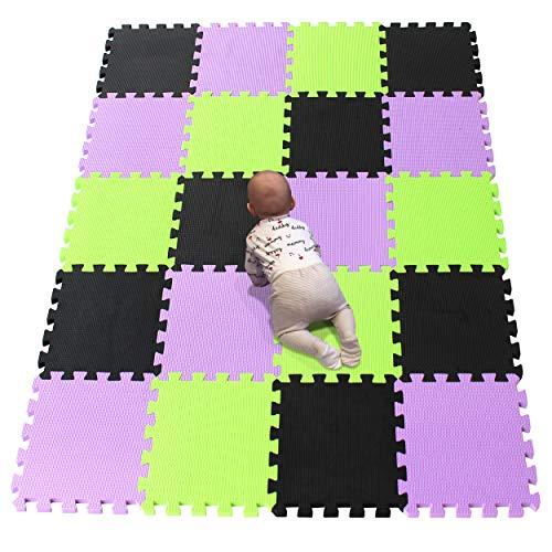YIMINYUER Alfombra puzles para Bebe Puzzle Infantil Suelo Piezas Goma eva ninos de Suelo Grande Infantiles Negro Púrpura Pastoverde R04R11R15G301020