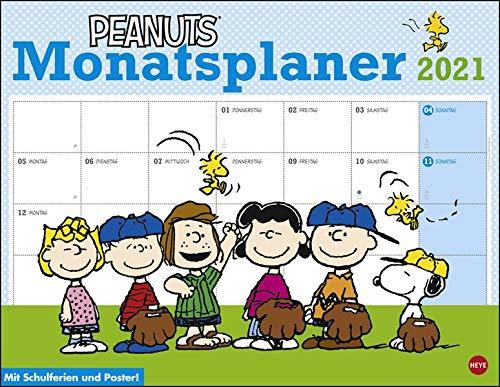 Peanuts Monatsplaner Kalender 2021