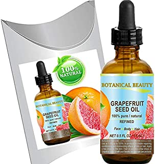 GRAPEFRUIT SEED OIL. 100% Pure / Natural / Undiluted /Refined COLD PRESSED CARRIER OIL (Not Essential Oil). 0.5 Fl.oz.- 15...