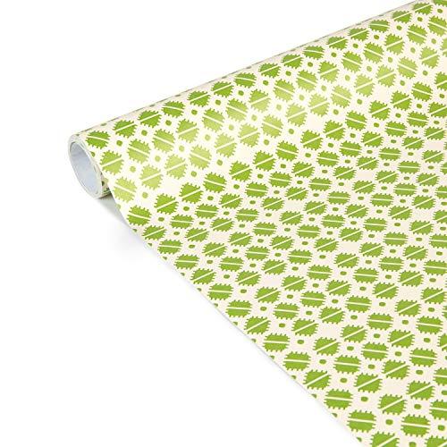 Clairefontaine 223868C Excellia Tiny Rolls - Rollo de papel de regalo (5 x 35 cm (especial pequeño ancho), 80 g, cuadrados verdes