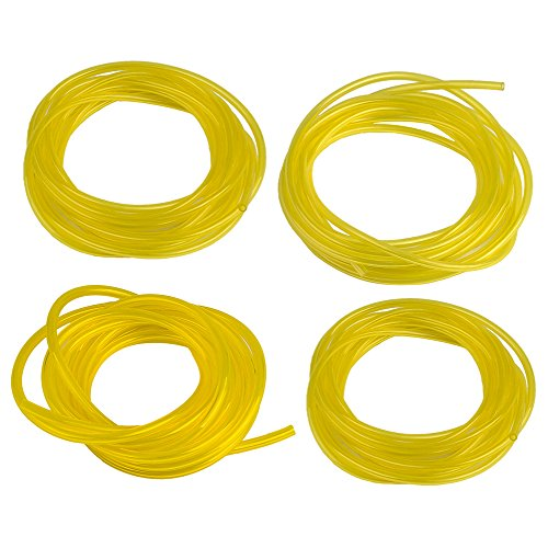 "Hipa (4 Size 4-Feet-Long Fuel Line Hose Tube I.D. x O.D. 3/32"" x 3/16"" 1/8"" x 3/16"" 1/8"" x 1/4"" .080"" x .140"" for Poulan Craftman Chainsaw String Trimmer Blower"