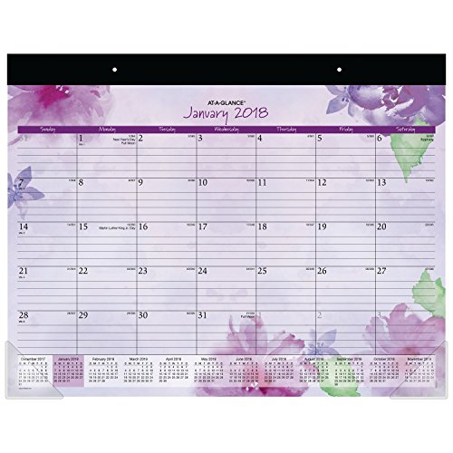 """AT-A-GLANCE Weekly / Monthly Appointment Book/ Planner, January 2018 - January 2019, 6-3/8"""" x 8-7/8"""", Beautiful Day, Lavender (938P-200)"""