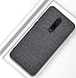 Domxteck Fabric PU Hard Back Cover + Soft TPU Bumper