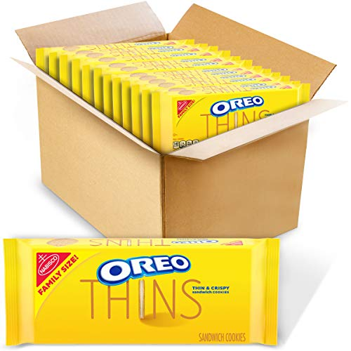 Oreo Thins Golden Sandwich Cookies Family Size, 12 - 13.1 Oz Pack, 12Count