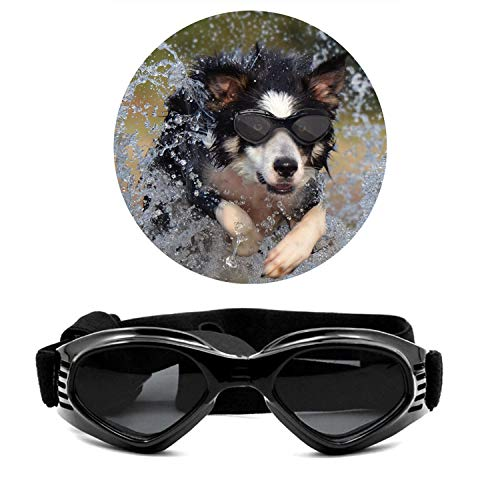 Turphevm Pet Goggles, Stylish Dog Sunglasses for UV Stop Waterproof Windproof Anti-Fog Eye...