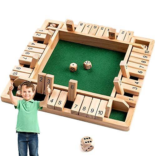 Shut The Box Dice Game,Chiudi Il Gioco Box Dice,Gioco da Tavolo Digitale in Legno,Giochi da Tavolo Giochi Wooden Board Game A Classic Family Math Game for Kids Family Party Gift