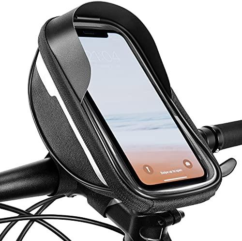 Fahrrad Lenkertasche Wasserdicht Fahrradzubehör - Fahrrad Handyhalterung Handytasche mit Touchscreen, Fahrradtasche Lenker Halterung Fahrradlenker Rahmentasche für 6.5 Zoll Smartphone