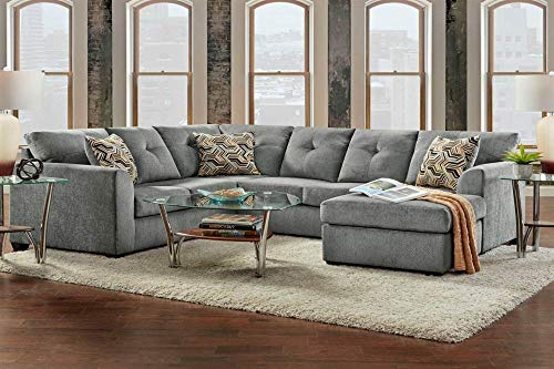 Chelsea Home Sectional in Kelly Gray