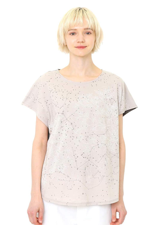(グラニフ) graniph ボックス Tシャツ コンステレーション ワールド (グレー) レディース (g14)