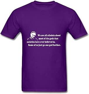 Gray Customized Richard Dawkins Quote Men Funny Top-shirt
