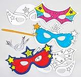 """Baker Ross Masken """"Superhelden"""" zum Ausmalen (6 Stück) - für Kinder ideal zum Kindergeburtstag..."""