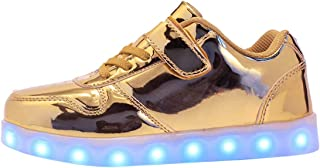Zapatos LED Niños Niñas 7 Color USB Carga LED Zapatillas Luces Luminosos Zapatillas LED Deportivos para Hombres Mujeres