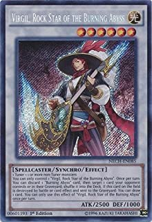 Yu-Gi-Oh! - Virgil, Rock Star of the Burning Abyss (NECH-EN085) - The New Challengers - 1st Edition - Secret Rare