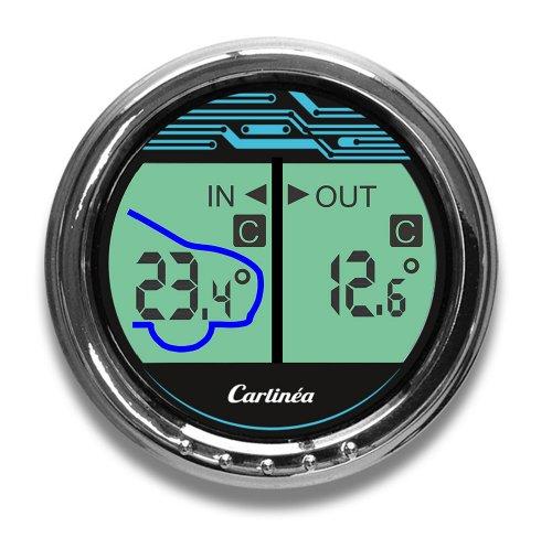 Carlinea 485004 Thermomètre Digital Intérieur/Extérieur-30°/ +50°