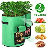 Tvird Potato Grow Bags 2 Pack 10 Gallon Planting Pouch Fabric Pots...