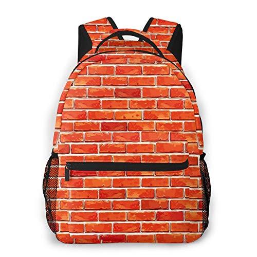 Laptop Rucksack Daypack Schulrucksack Backpack Roter Backstein 245, Business Taschen Freizeit Rucksack Arbeits Schultasche für Herren Männer Schüler Schule