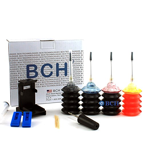 Refill Ink Kit by BCH - for Cartridges PG-243 CL-244 PG-245 CL-246 PG-210 CL-211 Inkjet Printer Cartridges - First-Timer Kit All 4 Colors - EZ30-KCMY-S