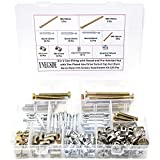 Cam Lock Fittings 3 in 1 with Dowel and Pre-Inserted Nut with Zinc Plated Hex Drive Socket Cap Furniture Barrel Nuts Crib Screws Assortment Kit for Cabinet Drawer Furniture Connecting 125Pcs