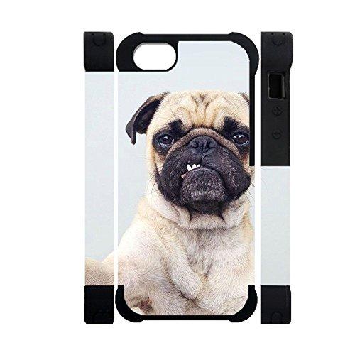Gogh Yeah Kawaii Men Compatibile con iPhone 6 6S Coperture Plastiche Rigide E Silicone Stampare Pug Dog Choose Design 111-5