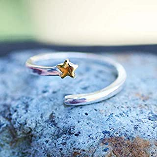 Adjustable Shooting Star Ring 925 Sterling Silver, Grad Gift, Gift for Her