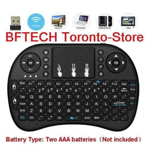 BFTECH 2.4GHz Mini Wireless Keyboard with Touchpad Mouse,Handheld Remote,Pi 2/3,KODI Android TV Box, HTPC/IPTV, Windows 7 8 10