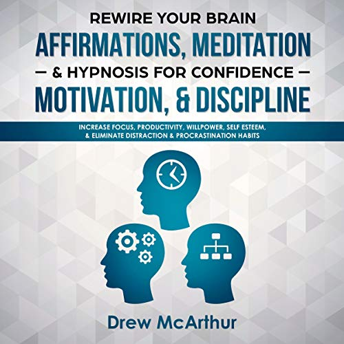 Couverture de Rewire Your Brain Affirmations, Meditation, & Hypnosis for Confidence, Motivation, & Discipline