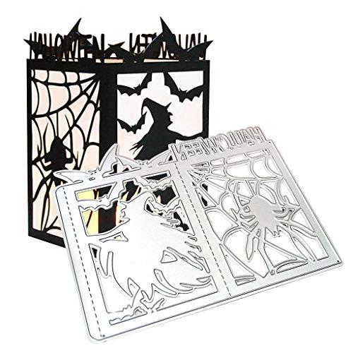 WuLi77 Halloween-Hexe Metall Stanzschablone Die Stanzen Zum Basteln Von Karten, Prägeschablone Für Scrapbooking, DIY Album, Papier, Karten, Kunst, Dekoration