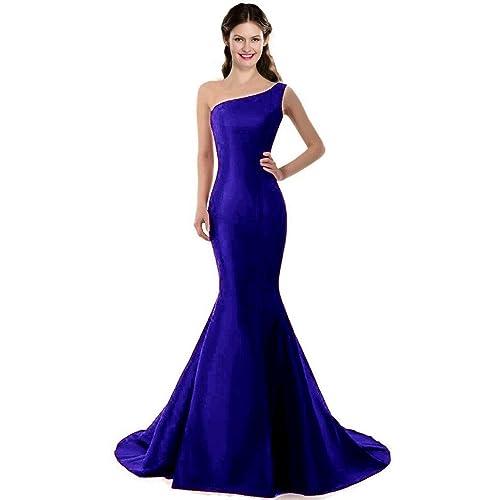 e442f4372437 COLOREDRESS Color E Dress Design Brief Elegant Mermaid One-Shoulder Evening  Dress