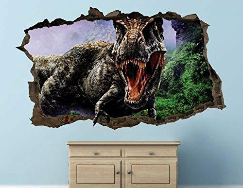 LMMLYR 3D Pegatinas de pared Dinosaurio extinto animal personalizado Extraíble Agujero en la pared Vinilo Decorativo Pegatinas Vista de Efecto Adhesivos De Pared