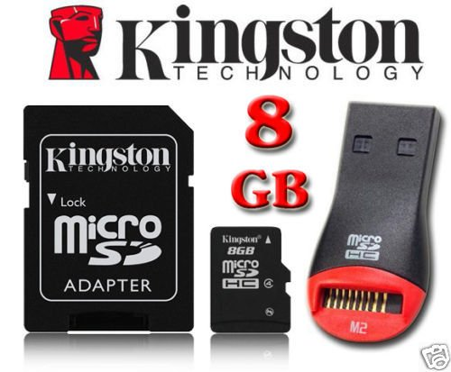 Kingston 8GB Micro SD Micro SDHC geheugenkaart met SD-adapter voor Tesco Hudl, Hudl 2 Tablet, Sony Xperia Tablet Z Wi-Fi Tablet, HP Hewlett Packard Slate 7 Tablet, Archos 101 Tablet, Motorola XOOM MZ604 Tablet, Prestigio MultiPad PMP5080B Tablet, Medion Lifetab S9714 MD (99300), Microsoft Surface Tablet By UkMobileAccessories