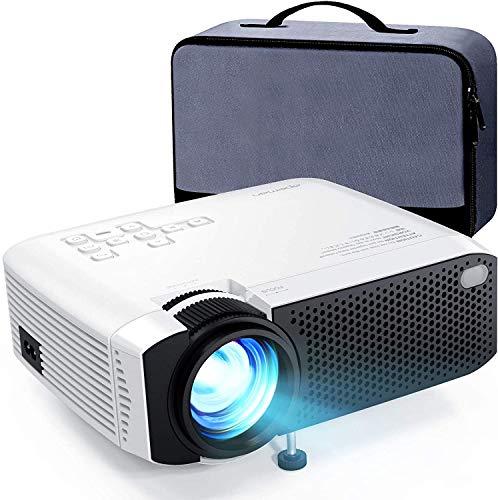 APEMAN 小型 プロジェクター LED 4000lm 1080PフルHD対応 180インチ大画面 スマホ/パソコン/タブレット/ゲーム機/DVDプレイヤー/USBなど対応 【収納バッグ付き】
