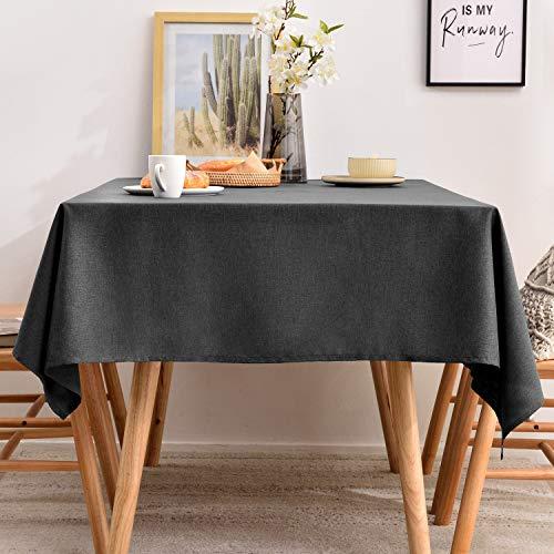 Rechteckige Tischdecke aus Kunstleinen, waschbare Tischdecke für Küche, Esszimmer, Buffet, Dekoration, groß, länglich