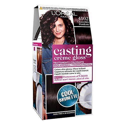 L'Oréal Paris Tinta Capelli Casting Creme Gloss, senza Ammoniaca per una Fragranza Piacevole, 4102 Cool Brunette Cioccolato Fondente, 1p ezzo