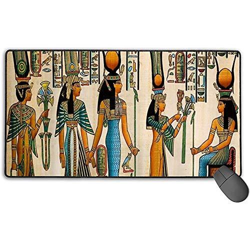 Afro Ancient Egyptian Queen Gaming Mauspad, erweiterte große Mausmatte Schreibtischunterlage, Lange rutschfeste Mausunterlage aus Gummi Tastatur Mauspad