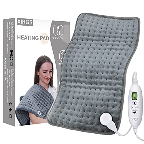 XIRGS Heating Pad, Electric Heat Pad for Back Cramps Neck Pain Relief with...