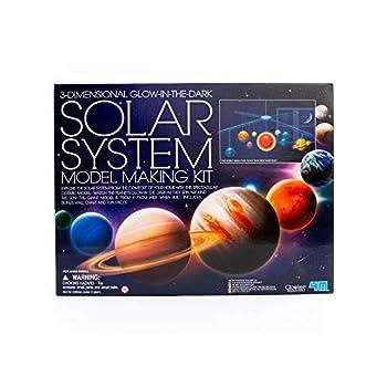 4M 3D Glow-in-the-Dark Solar System Mobile Making Kit - DIY Science Astronomy Learning Stem Toys Educational Gift for Kids & Teens Girls & Boys